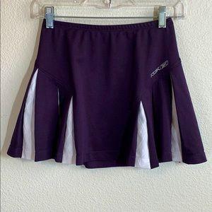 Reebok Play Dry Pleated Tennis Skirt Purple White